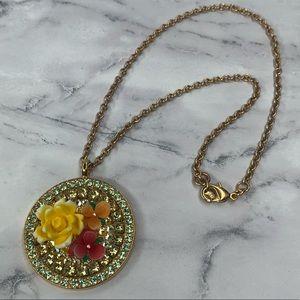 Tarina Tarantino Floral Pendant Necklace
